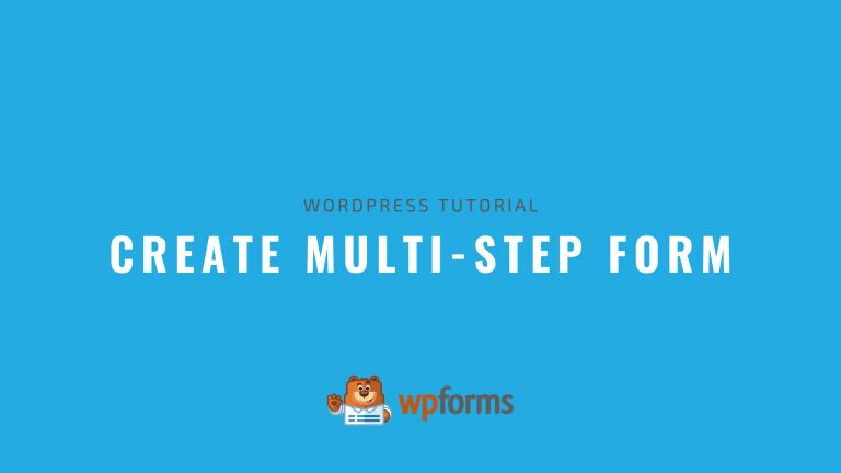Create Multi Step Form WordPress